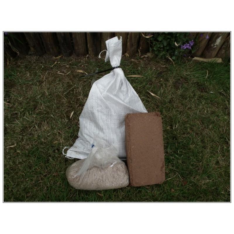 Compostwormen, Wormenvoer, Kokosvezelblok, startpakket wormenbak